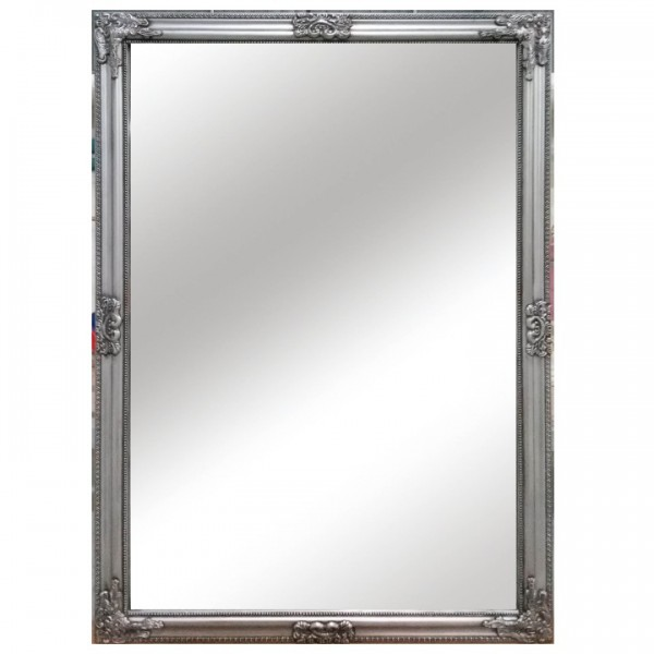 TEMPO KONDELA Zrkadlo, strieborný drevený rám, MALKIA TYP 11