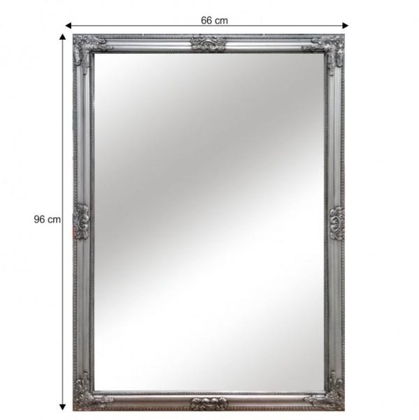 Zrkadlo, strieborný drevený rám, MALKIA TYP 11
