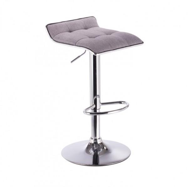 TEMPO KONDELA Barová stolička, sivá/chróm, FUEGO