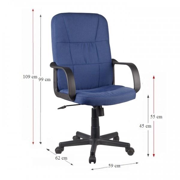 TEMPO KONDELA Kancelárske kreslo, modrá, TC3-7741 NEW
