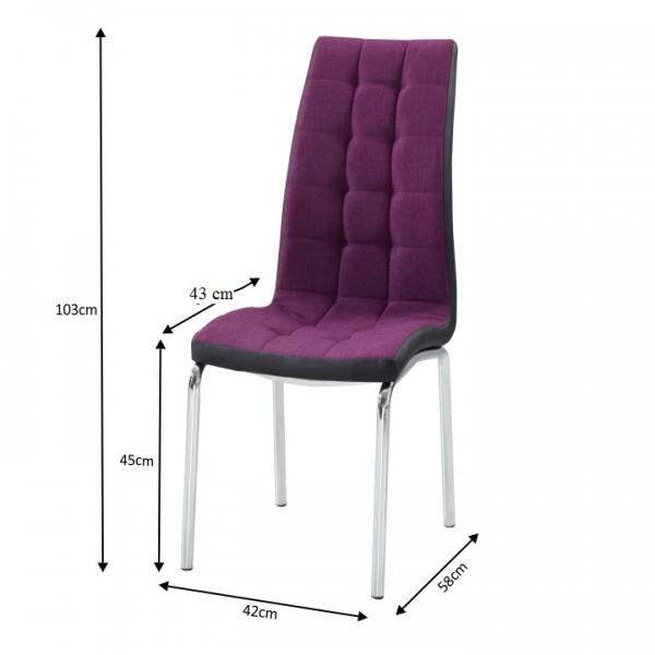 Jedálenská stolička, fialová/čierna, GERDA NEW