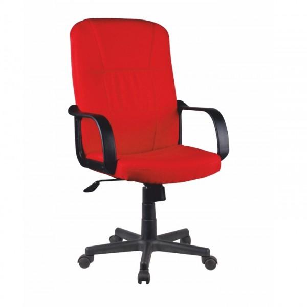 TEMPO KONDELA Kancelárske kreslo, červená, TC3-7741 NEW