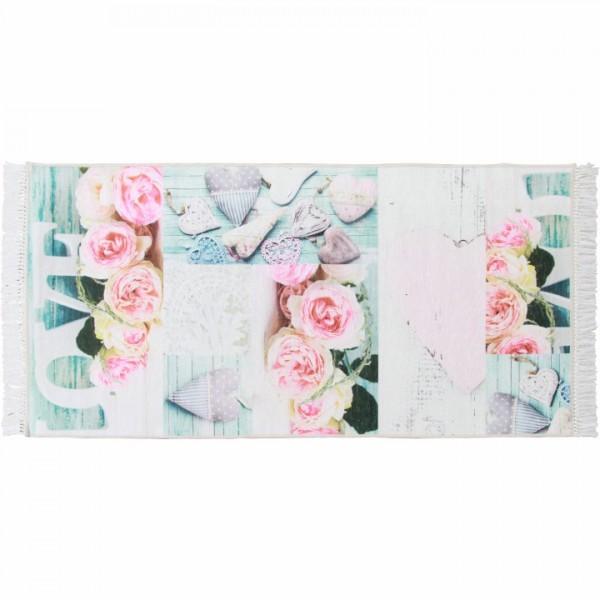 Koberec, vzor ruže, viacfarebný, 160x230, SONIL TYP 2