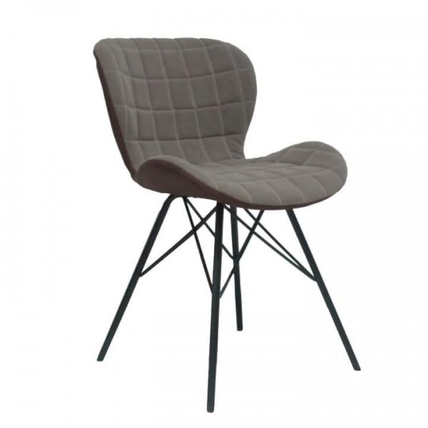 Dizajnová stolička, béžová/hnedá, LORANA