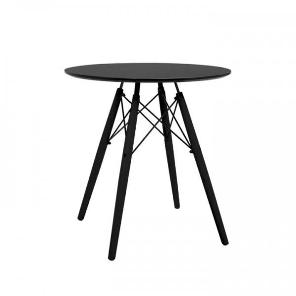 Okrúhly jedálenský stôl, čierna, MONTY