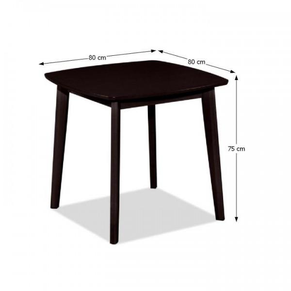 Jedálenský stôl, 80x80, wenge, ROSPAN