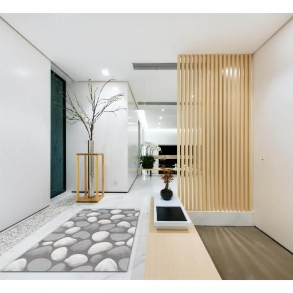 Koberec, hnedá/sivá/vzor kamene, 100x150, MENGA