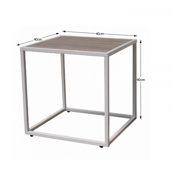 Príručný stolík, dub/biela, JAKIM TYP 2