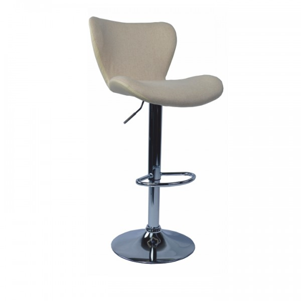TEMPO KONDELA Barová stolička, hnedá látka/kremová ekokoža, TIRZA