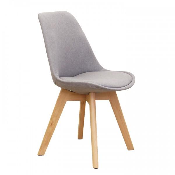 Stolička, sivá/buk, LORITA