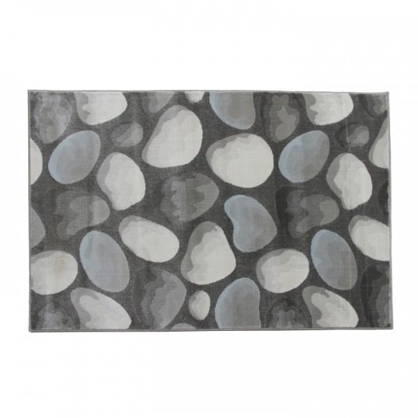 Koberec, hnedá/sivá/vzor kamene, 67x120, MENGA