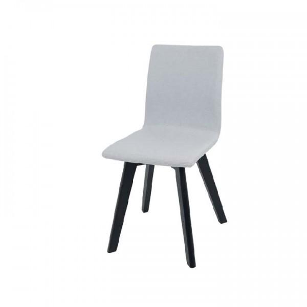 Stolička, svetlosivá/čierna, LODEMA
