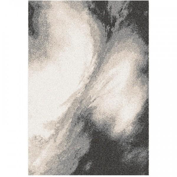 Koberec, biela/hnedá/čierna, 160x235, TOCAR