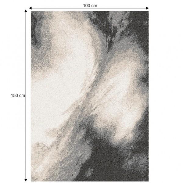 Koberec, biela/hnedá/čierna, 100x150, TOCAR