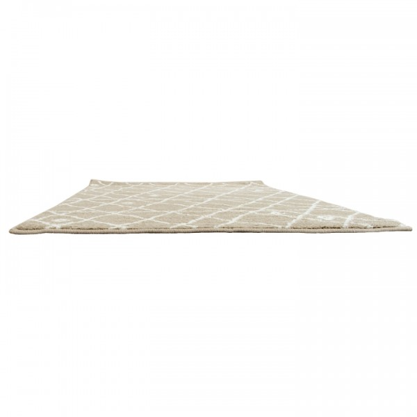 Koberec, béžová/biela, 160x235, TYRON