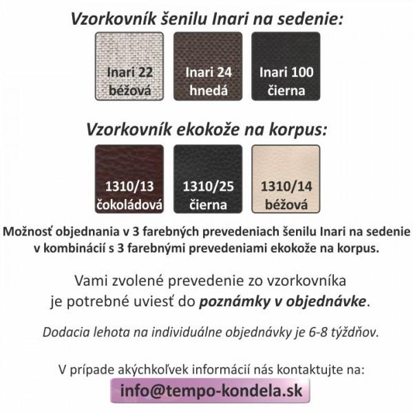 TEMPO KONDELA Sedacia súprava, ekokoža biela/látka tmavosivá, pravá, POLO