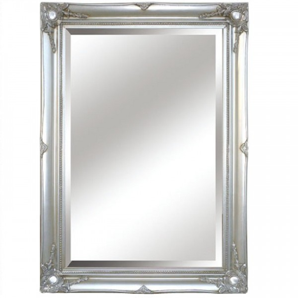 TEMPO KONDELA Zrkadlo, strieborný rám, MALKIA TYP 7