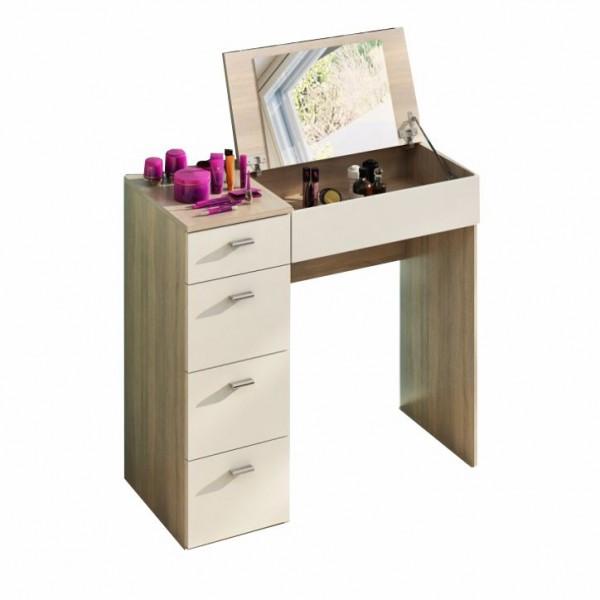 TEMPO KONDELA Toaletný stolík, toaletka, dub sonoma/biela, BELINA