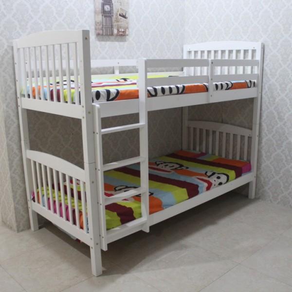 Poschodová rozložiteľná  posteľ, biela, RAVELO