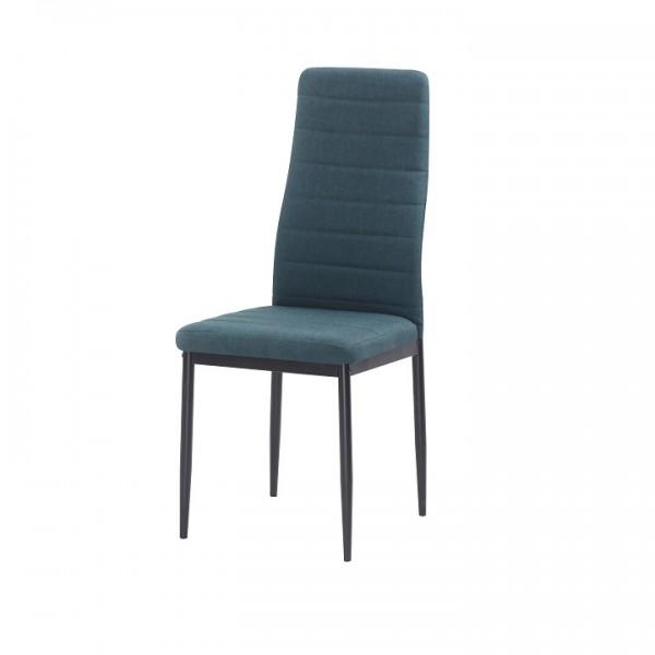 Stolička, smaragdová látka/čierny kov, COLETA NOVA
