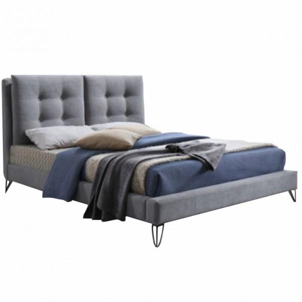 TEMPO KONDELA Moderná posteľ, sivá, 160x200, KOLIA