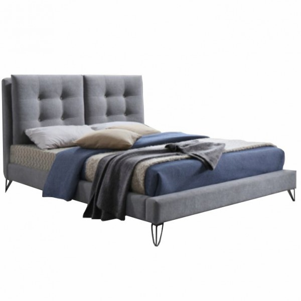 Moderná posteľ, sivá, 180x200, KOLIA
