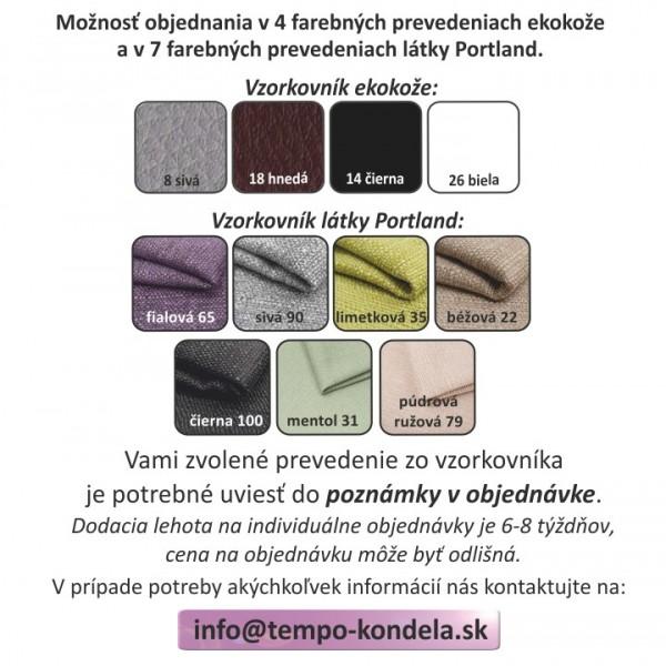 Sedacia súprava v tvare U, ekokoža čierna/látka sivá, ľavá, AMOTI U