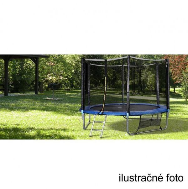 Trampolína s ochrannou sieťou a rebríkom, 252 cm, modrá/čierna, JUMPY 2