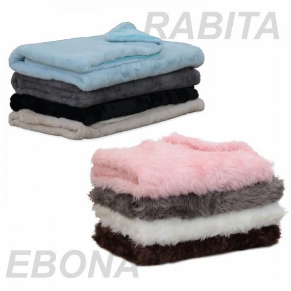 Kožušinová deka, hnedá, 150x170, EBONA TYP 3