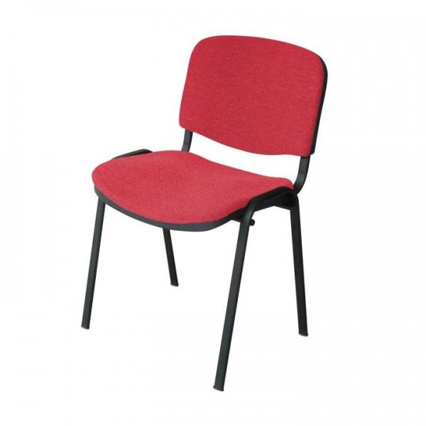 TEMPO KONDELA Kancelárska stolička, červená, ISO NEW