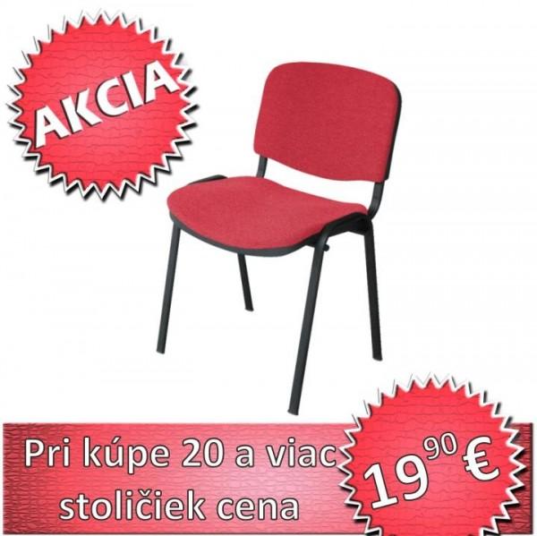 Kancelárska stolička, červená, ISO NEW