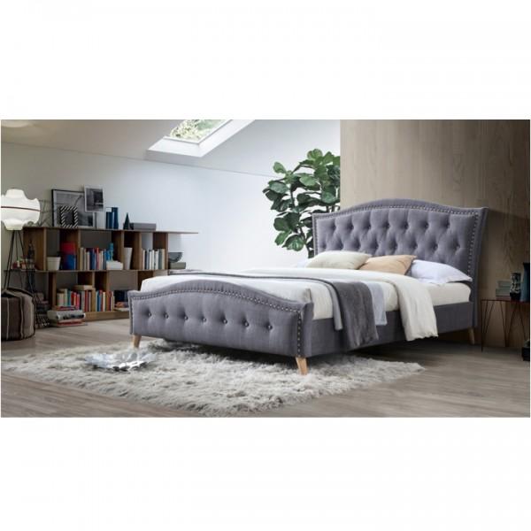 Manželská posteľ, sivá, 160x200, GIOVANA