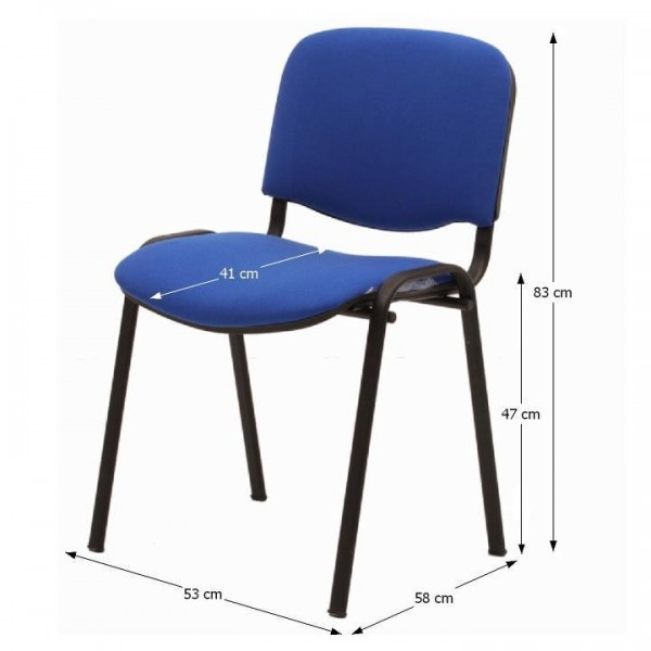 Kancelárska stolička, modrá, ISO NEW