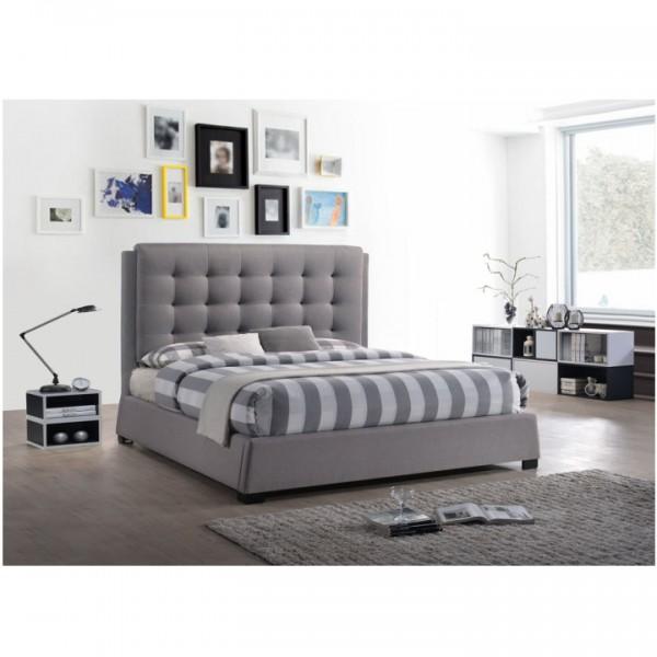 Manželská posteľ, sivá, 180x200, EVENT