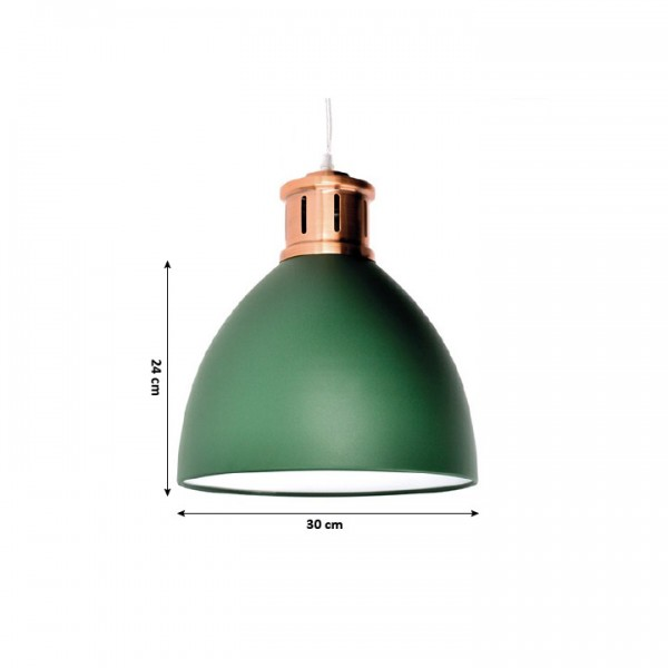 Luster, oceľ/tmavozelená, BARI W013-GR