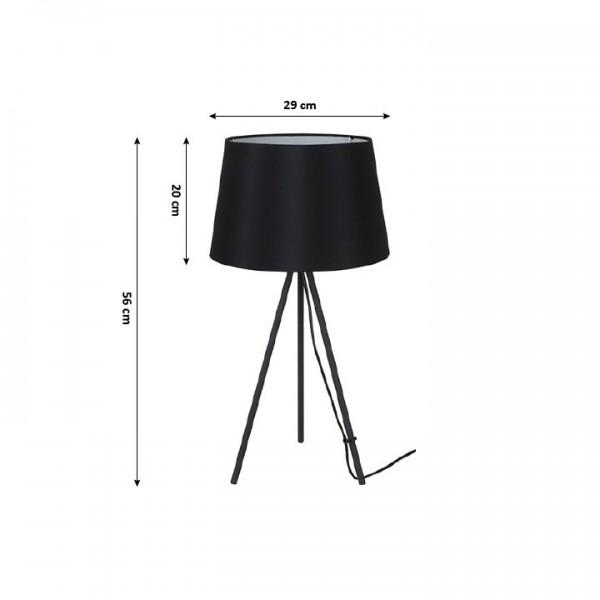 Stolná lampa, matná čierna, MILANO WA005-B