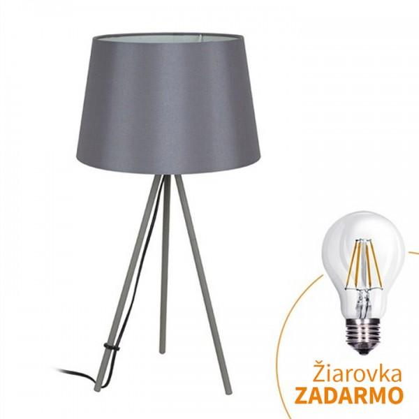 Stolná lampa, matná sivá, MILANO WA005-G