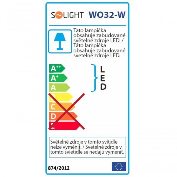 Stolná lampička, biela, WO32-W