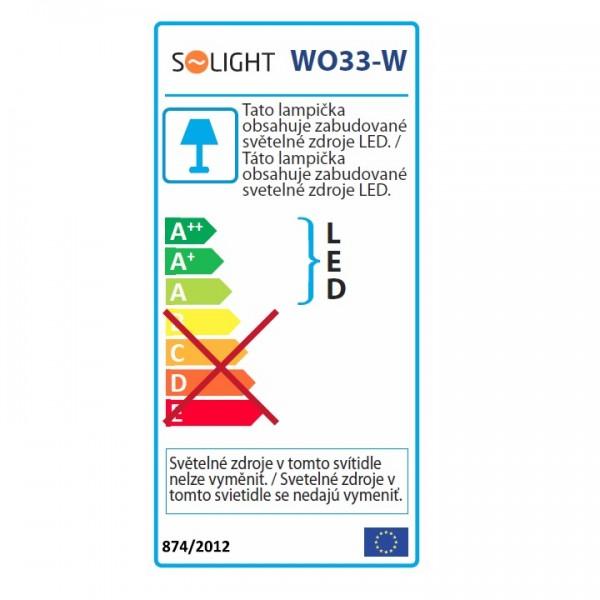 Stolná lampička, biela, WO33-W