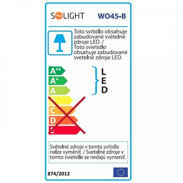 Stolná LED lampa, čierna, WO45-B