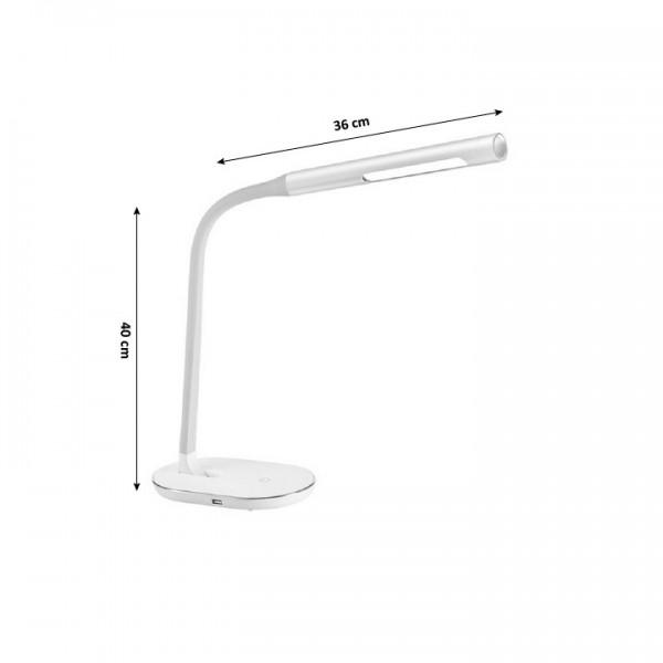 LED lampa s USB zdierkou, biela, WO50-W