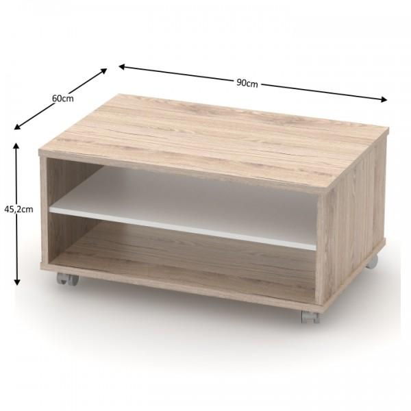 Konferenčný stolík, san remo/biela, RIOMA TYP 32
