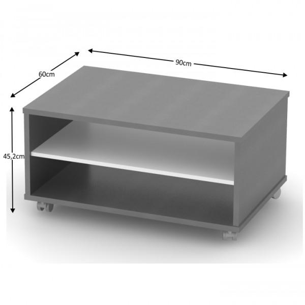 Konferenčný stolík, grafit/biela, RIOMA TYP 32