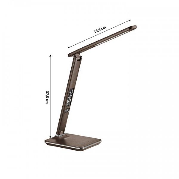 Stolná LED lampa, hnedá, WO45-H