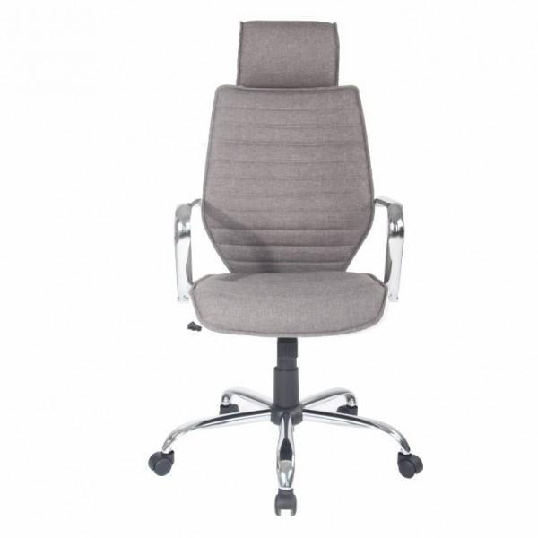 Kancelárske kreslo, sivá/biela, DENZEL