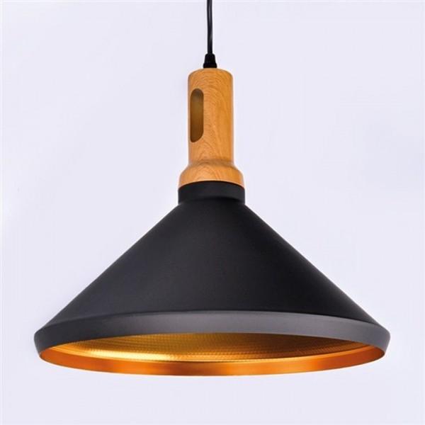 Kovový luster, matná čierna/zlatá, ROMA GOLD WA011-B
