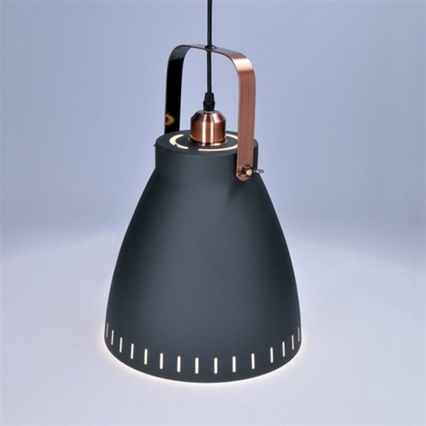 Luster, oceľ/čierna matná, TORINO WA003-B