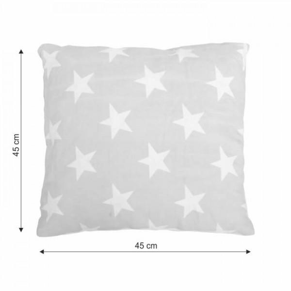 Vankúš, bavlna/vzor hviezdy, 45x45, NOVEL TYP 1