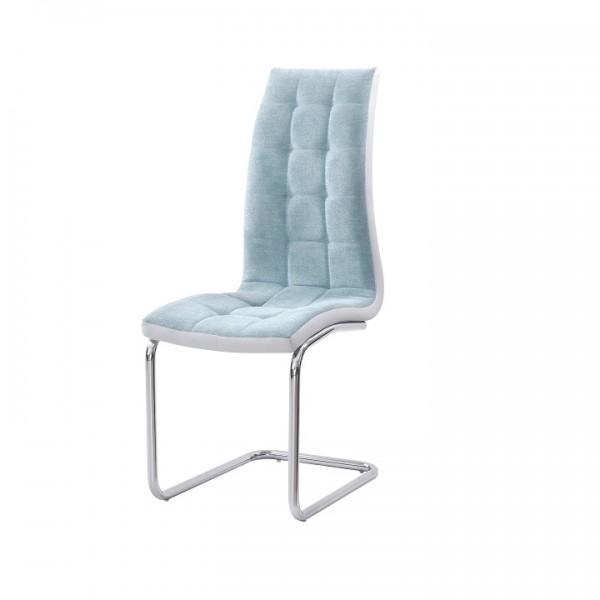 TEMPO KONDELA Jedálenská stolička, mentolová/sivá/chróm, SALOMA NEW
