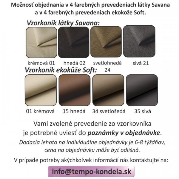 Rohová sedacia súprava, sivá/biela, ľavá, MARBELA LUX 2+3
